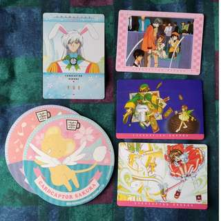 4 Cardcaptor Sakura Carddass Masters Trading Cards (Bandai, Made in Japan)