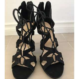 Sports girl black heels
