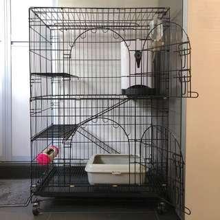 Cat Cage / 2 Tiers Villa