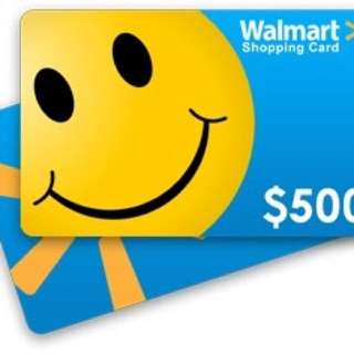$500 Walmart Giftcard for only $450