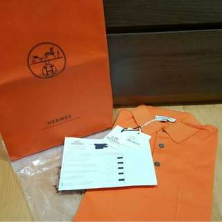 New Polo H Orange Size L with Envelope Cover plastic with Copy Rec 2017
