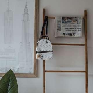 TYPO x Disney - White Small Backpack ✧ Tara Milk Tea