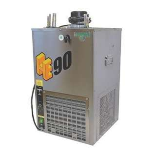 Whole Beer dispenser system with ice bank chiller.