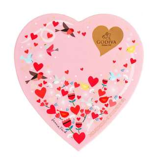 Godiva Valentines Heart Chocolate Box