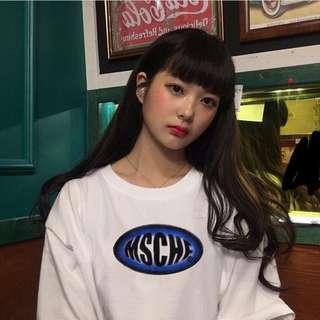 MSCHF 字母印花短袖T恤 tee情侶裝