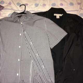H&M Bomber jacket and Button down