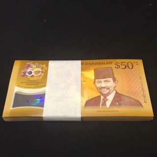 Cia 50th Years Anniversary Brunei $50 With 100 pcs