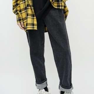 韓版仿舊單寧牛仔褲