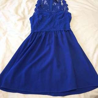 HM lace blue dress
