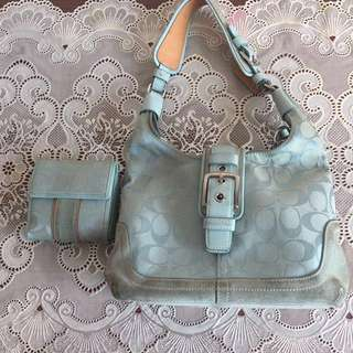 Authentic Coach bag and wallet