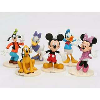 Disney Mickey Minnie Mouse Donald Daisy Duck Cake Toppers Figurines
