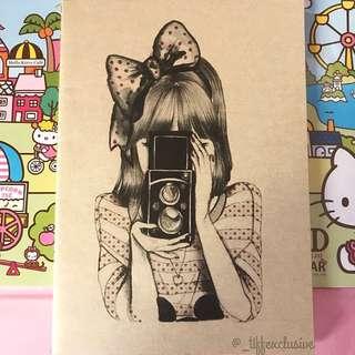 Camera Girl Notebook