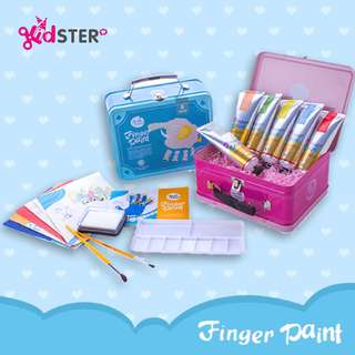 Finger Paint Art Box (Blue) + FREE Finger Paint Paper Set