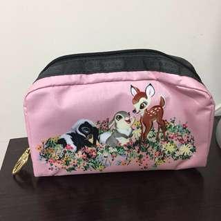 全新正版Lesportsac小鹿斑比化妝袋 Bambi Disney 迪士尼