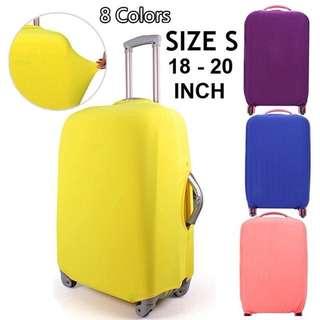 Pelindung Koper Kain Polos Elastis/Elastic Luggage Cover Ukuran S
