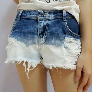 Hot Short Pants Denim Zara Washed Ripped