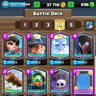 Clash Royale Account lots of legend and high level cards