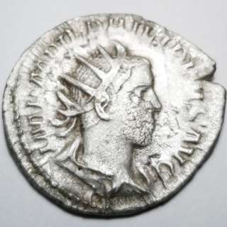 Ancient Roman Silver Antoninianus  Philip the Arab (246-247 AD)