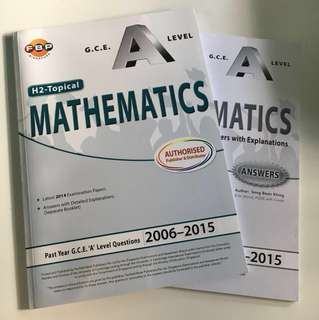 A Level H2 Topical Mathematics TYS 2006-2015 (with answer key)