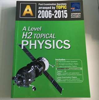 A Level H2 Topical Physics TYS 2006-2015 (with answer key)