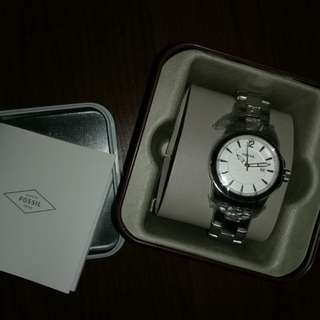 Authentic Fossil Watch (Silver)