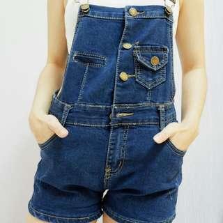 Celana Monyet Pullover Overall Jumpsuit Playsuit Denim