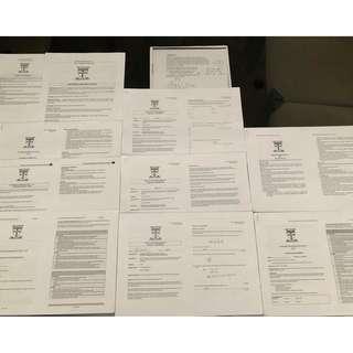 VCE U3&4 Further Maths SACS & Tests