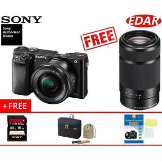SONY A6000 Twin Kit 16-50mm & 55-210mm Lens (ORIGINAL & OFFICIAL SONY)