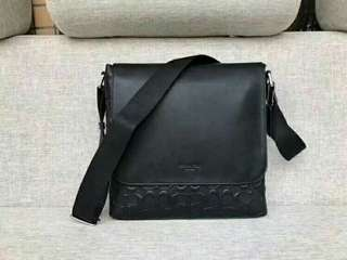 Coach leather sling for men