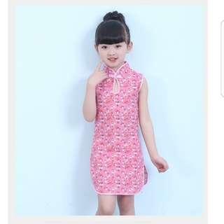 CNY Kids Girls Cheongsam Qipao M10