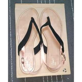 ZARA TRF Flat Sandal in Rose Gold (Size 40)