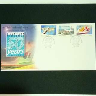 MALAYSIA MAS 1947-1997 Biro Filateli 50 Tahun Penerangan Malaysia Stamps