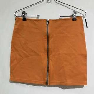 H&M Orange bandage skirt