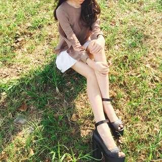 Black Simple Heels
