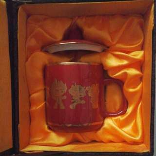 2008 Beijing Olympics Authentic Friendlies China-Red Mug With Certificate