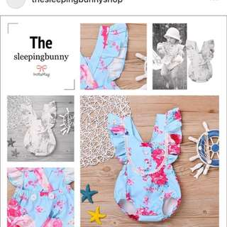 Girls Flower romper