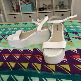 White Windsor Smith Flatforms/Heels