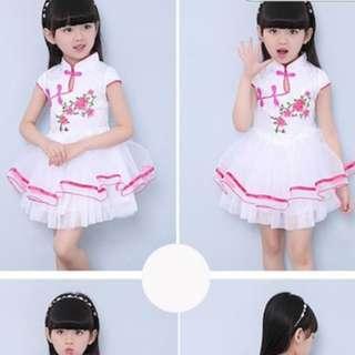 CNY Girl Cheongsam Qipao Dress