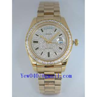 026997-RXPSD41SAP 02-S INGX ROLEX PRESIDENT DAY-DATE YELLOW-GOLD SAPPHIRE-GLASS