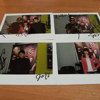 Limited Edition Autographed Mediacorp Artiste Polaroid