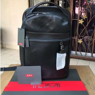 Tumi Skytop Small Leather Backpack / Laptop / Tablet Bag