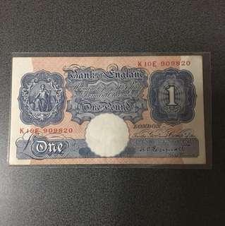 Bank of England (EF) 1 pound K10E 909820