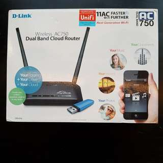 D-Link AC 750 Wireless Dual Band Cloud Router
