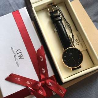 daniel wellington DW Watch lady woman 黑色手錶