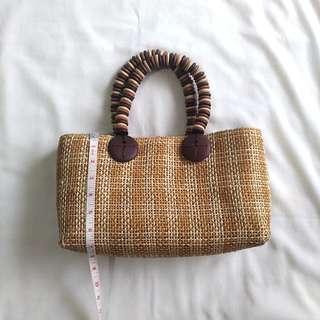 Wood woven bag