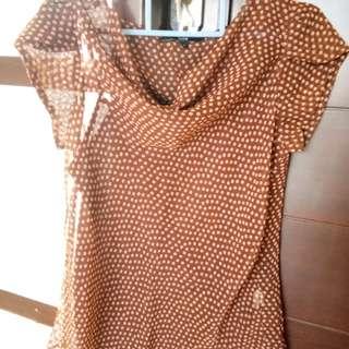 Brown woman top (baju atasan)