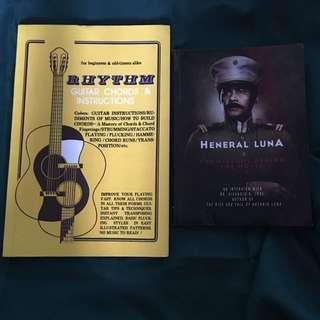 History and Music Books -Heneral Luna and Rhythm Guitar Chords and Instructions