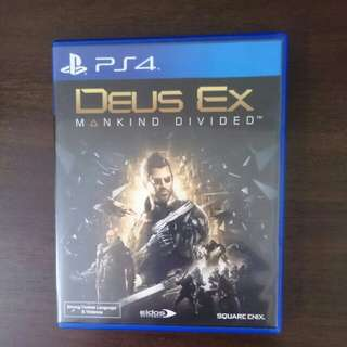Deus Ex Mankind Divided  (PREOWNED FIXED PRICED NO TRADE)