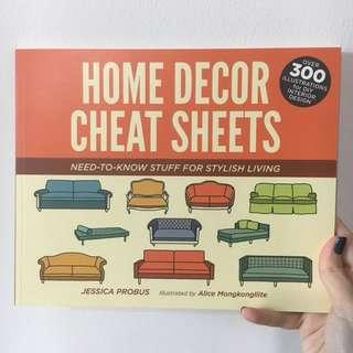 Home decor cheat sheets