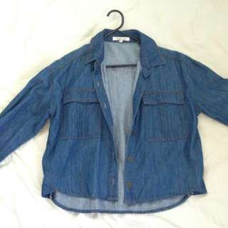 Forever21 crop denim jacket